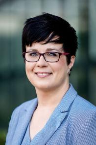 Sandra Olbrich bei der Arbeit